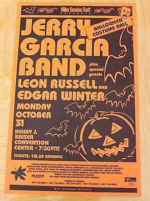 Jerry Garcia Band Halloween Costume Ball 1988 Concert Poster grateful dead