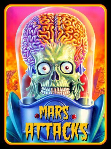 """4"""" Mars Attacks vinyl sticker. Alien movie monster UFO decal 4 car, laptop."""