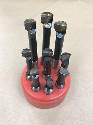 Hot New 38 Boring Bar Set 9 Pcs Carbide Tipped 38 Shank Lathe Tool C6