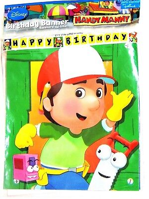 NEW HANDY MANNY   BIRTHDAY BANNER  PARTY SUPPLIES