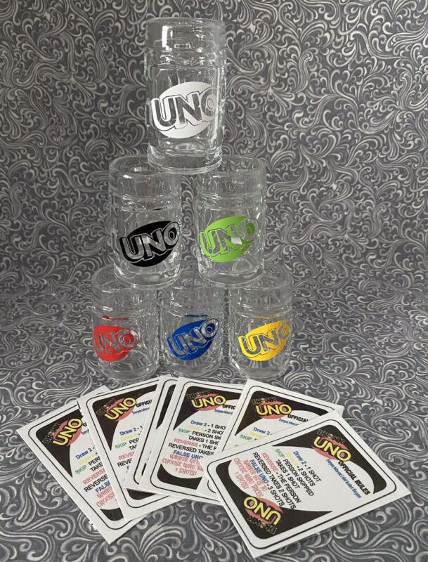 Drunk Uno Tavern Glasses Set Of 6