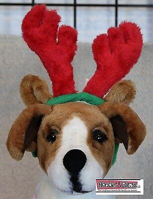 Juguete Perro Navidad Cuernos Reno Grande Gorro Outward Sabueso Mascota Peluche