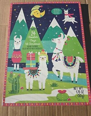 Trader Joes Advent Calendar Christmas Alpaca Llama Version 24 Chocolates