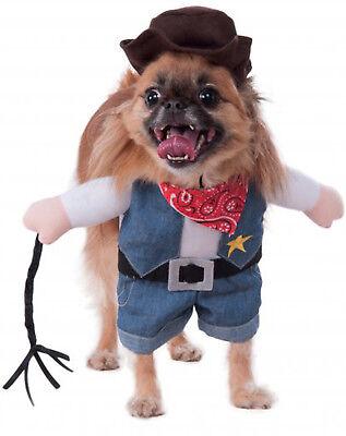 Walking Cowboy Western Wilder Sheriff Haustier Hund Katze Halloween - Sheriff Hunde Kostüm