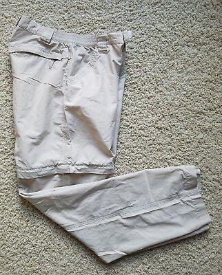 Women's Columbia Hiking Fishing Outdoor Camping Convertible Pants Size 8 Khaki