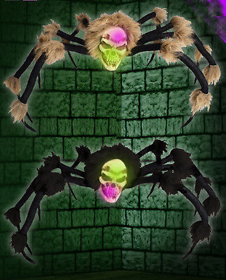 CHEAP Halloween Scary Spider Decoration with LED light up changing colour head - Cheap Halloween Decoration