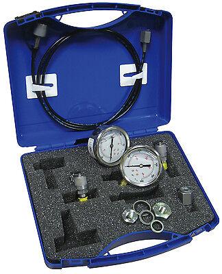 Hydraulic pressure test kit with 2 pressure gauges  Thi