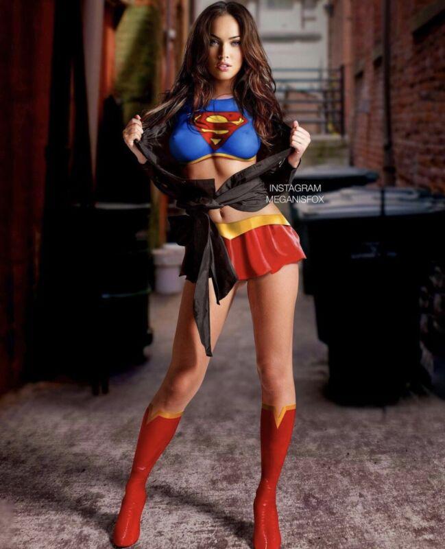 Megan Fox - In The Super Women Outfit !!  Full Body Shot !!