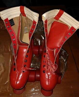 RETRO VINTAGE 1980's STAR ROLLER OUT-INDOOR RED UNISEX SIZE 7 MEN / 9 WOMEN