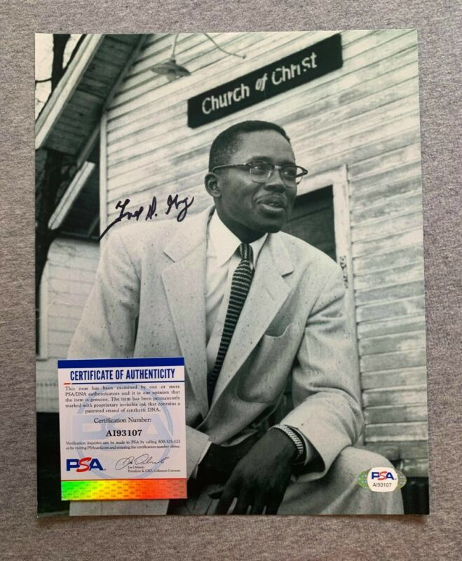CIVIL RIGHTS ATTORNEY FRED D. GRAY AUTOGRAPH 8x10 PHOTO MARTIN LUTHER KING PSA 1