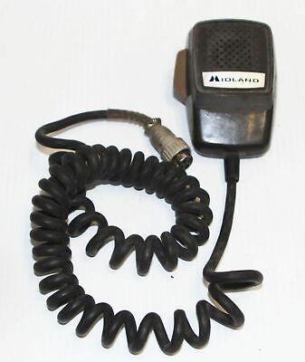 Midland Dynamic Element Mic 4 Pin Round Screw On 70-2301 Vintage Lmr Vhf Radios