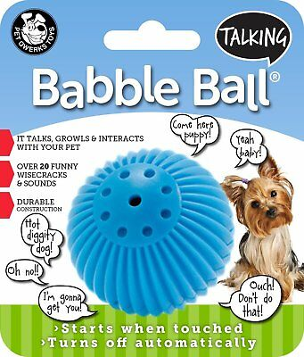 Pet Qwerks Small Talking Babble Ball Toy for Dogs