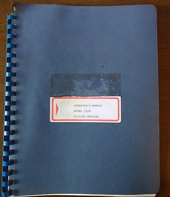 Milwaukee Operators Manual For Model 1224 Milling Machine