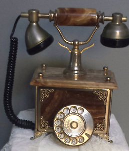 Vintage marble landline phone