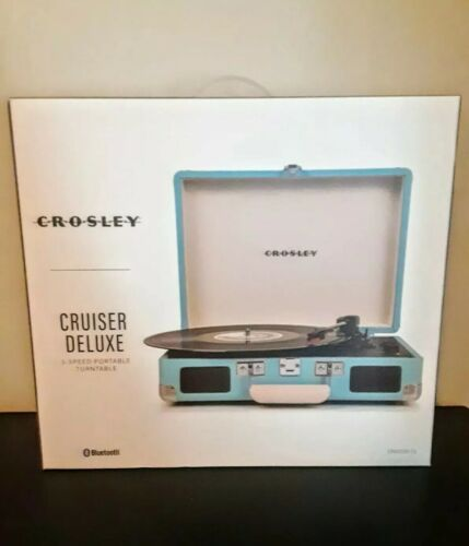 Crosley Cruiser Deluxe Turquoise With Added Bluetooth And Pi