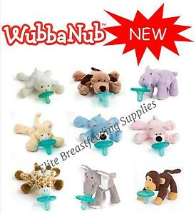 WubbaNub-Infant-Baby-Soothie-Dummy-Pacifier-with-Cuddly-Plush-Animal-NEW