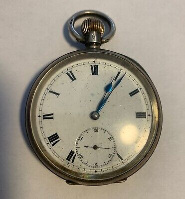 Antique Omega Sterling Silver Pocket Watch - Not Working For Parts