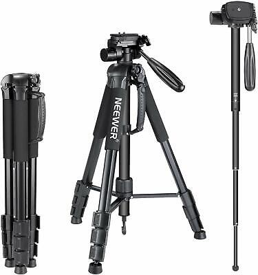 High quality Black Heavy Duty DV Video Camera Tripod Stand with Fluid Pan -