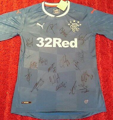 Rangers 16/17 squad signed shirt / COA