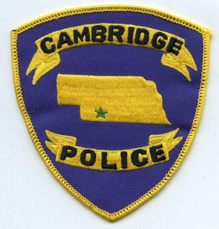 CAMBRIDGE NEBRASKA NE POLICE PATCH