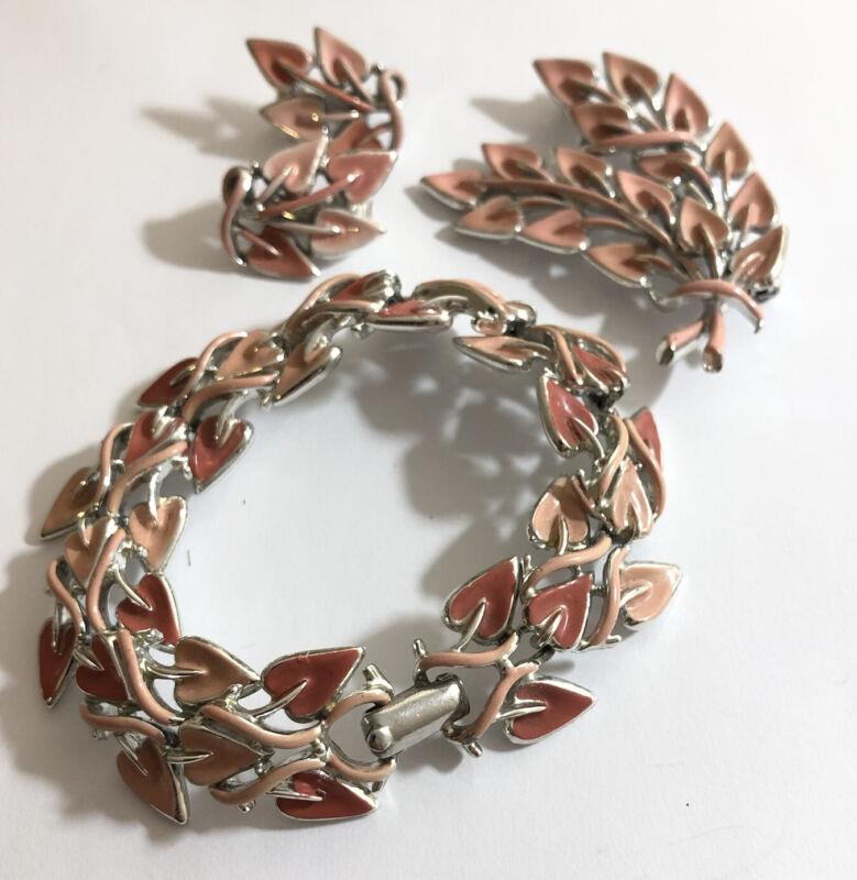Vintage jewel craft enamel costume jewellery set