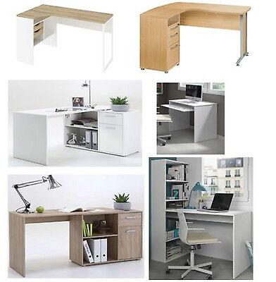 Home Office Corner Desks, White gloss, Oak, Beech Computer Study Table Furniture