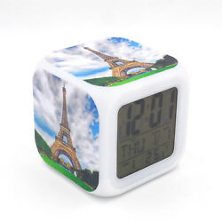 Eiffel Tower Led Alarm Clock Creative Desk Digital Alarm Clock for Adults Kids