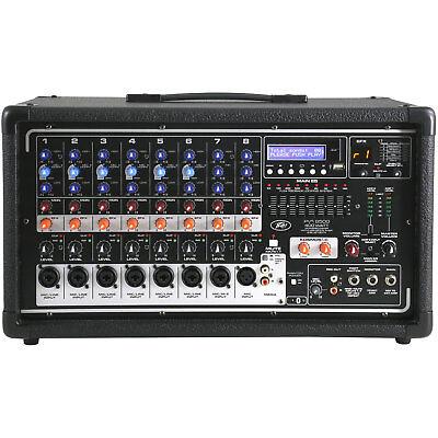 8 Channel 400w Powered Mixer - Peavey PVi 8500 8 Channel 400W Powered Mixer w/FX, Bluetooth