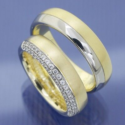 Hochzeitsringe Trauringe Eheringe aus Weissgold und Gelbgold ()