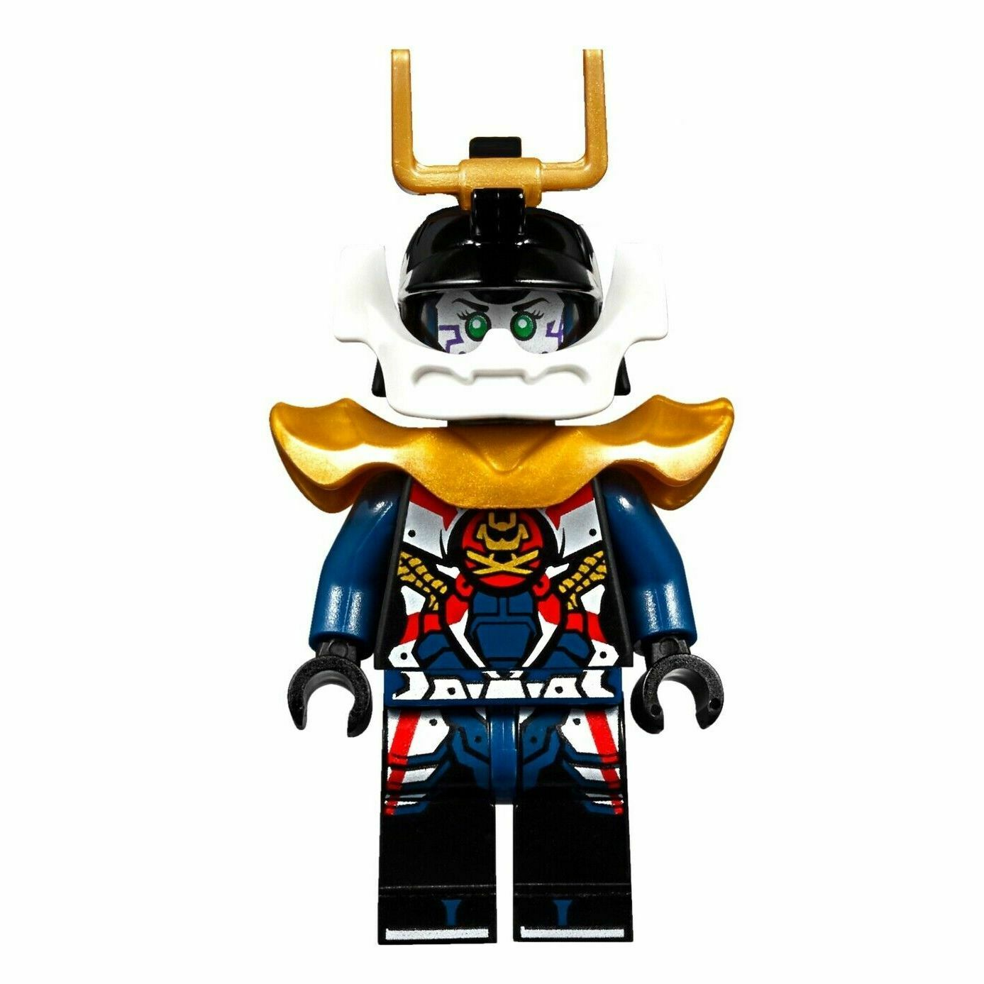 Details About Lego Ninjago Samurai X Pixel Minifigure New Golden Armour Helmet Genuine