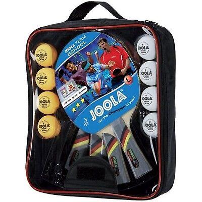 JOOLA Tischtennis Team School Set 4x Tischtennisschläger 8x TT Bälle inkl Tasche Tischtennis Tasche
