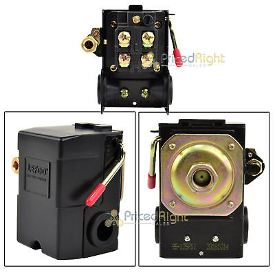 Single Port Air Compressor Pressure Switch Control Valve 145-175 Psi W Unloader