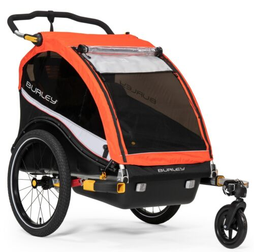 Burley Cub X Kids Bike Bicycle Trailer Double Stroller Atomic Red NEW
