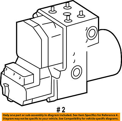 Dodge CHRYSLER OEM Sprinter 2500 ABS Anti-lock Brakes-Modulator Valve 5127538AA