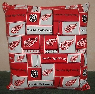 Detroit Red Wings Pillow - Red Wings Pillow Detroit Red Wings Pillow NHL Handmade in USA