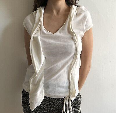YOHJI YAMAMOTO Y's Deformed Short Sleeve Laced Top
