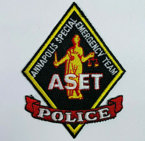 Annapolis Special Emergency Team ASET Police Maryland MD Patch (A1)