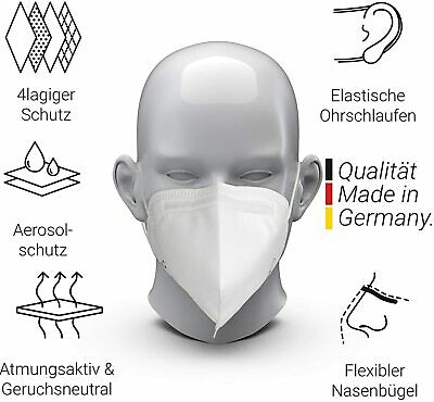 10x FFP3 Atemschutzmaske Made in Germany CE 2163 Elastoform DIN EN 149:2001