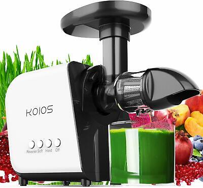 KOIOS Unhurriedly Masticating Juicer Machine Healthy Extractor Quite Motor Reverse Cold
