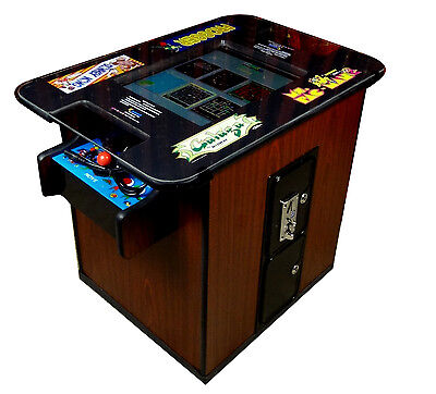 NEW COMMERCIAL GRADE CHERRYWOOD VIDEO ARCADE COCKTAIL TABLE Multigame Machine