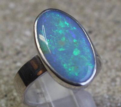 Dark Opal 5.5 Cts. 925er Silberring Größe 18,4 mm ()