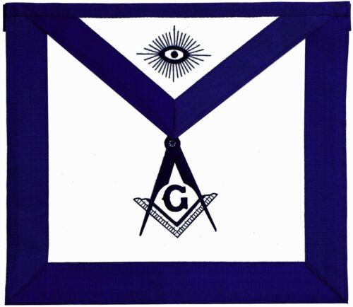Blue Lodge Master Mason Masonic Square & Compass Embroidered LEATHER APRON