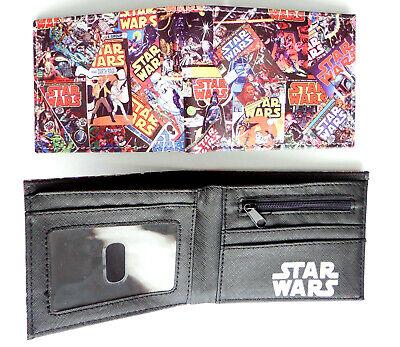 Star Wars Comics Multi Images wallet purse id window zip pocket cards Yeti Vader