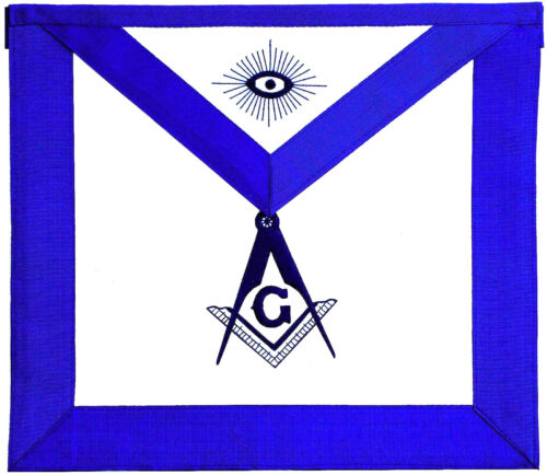Master Mason Masonic Embroidered LEATHER Apron $24 Lowest Price USA Seller