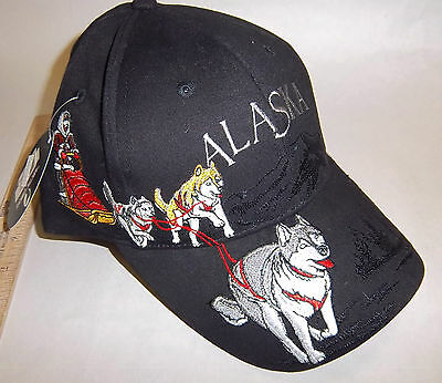 Beautiful Alaska Dog Sled Musher Embroidered Hat beautiful dog team - new w tags