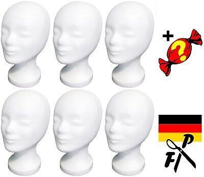 6 x FP Styroporkopf Perückenkopf - Markenqualität aus Deutschland + Überraschung