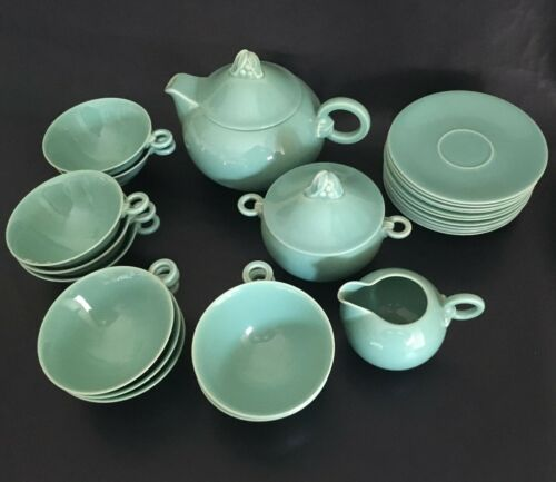 Rare French Art Deco Porcelain Tea Service for Rouard – 1930's - Tableware