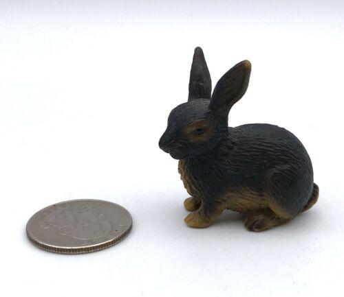 Schleich Black & TAN RABBIT Bunny 1996 Retired Animal figure 13137