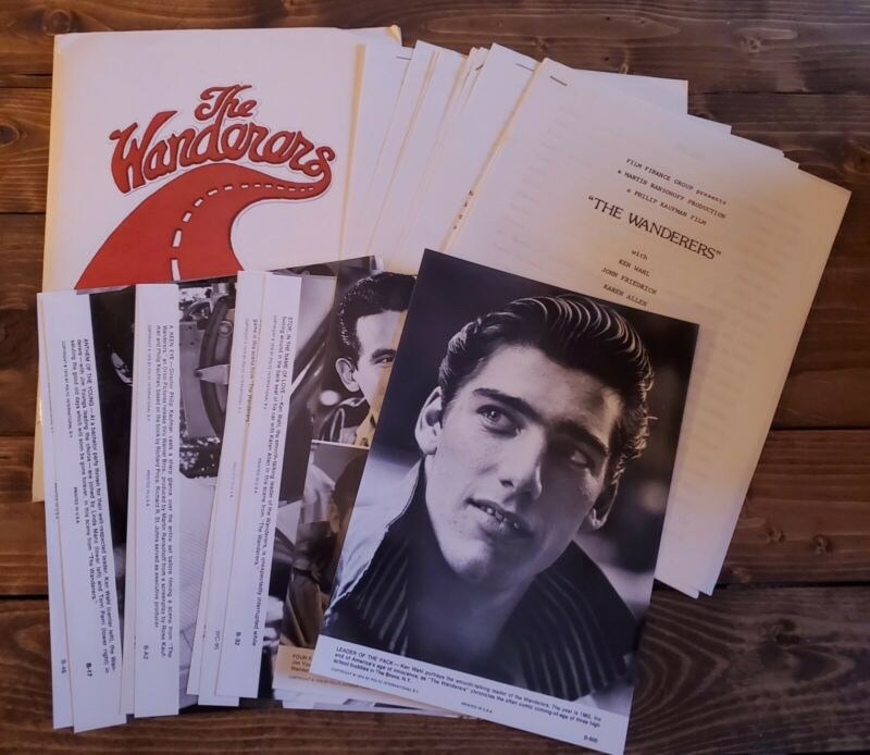 """1979 """"THE WANDERERS"""" Ken Wahl Orig. MOVIE PRESS KIT With (9) Photo"""