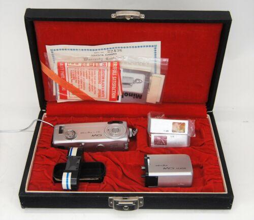 Minolta 16 MG Subminiature Spy Camera Case MG Flash Film Paperwork (A1)